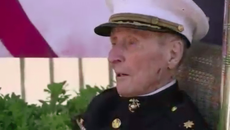 Oldest-Living Marine Veteran Turns 105 Years Old
