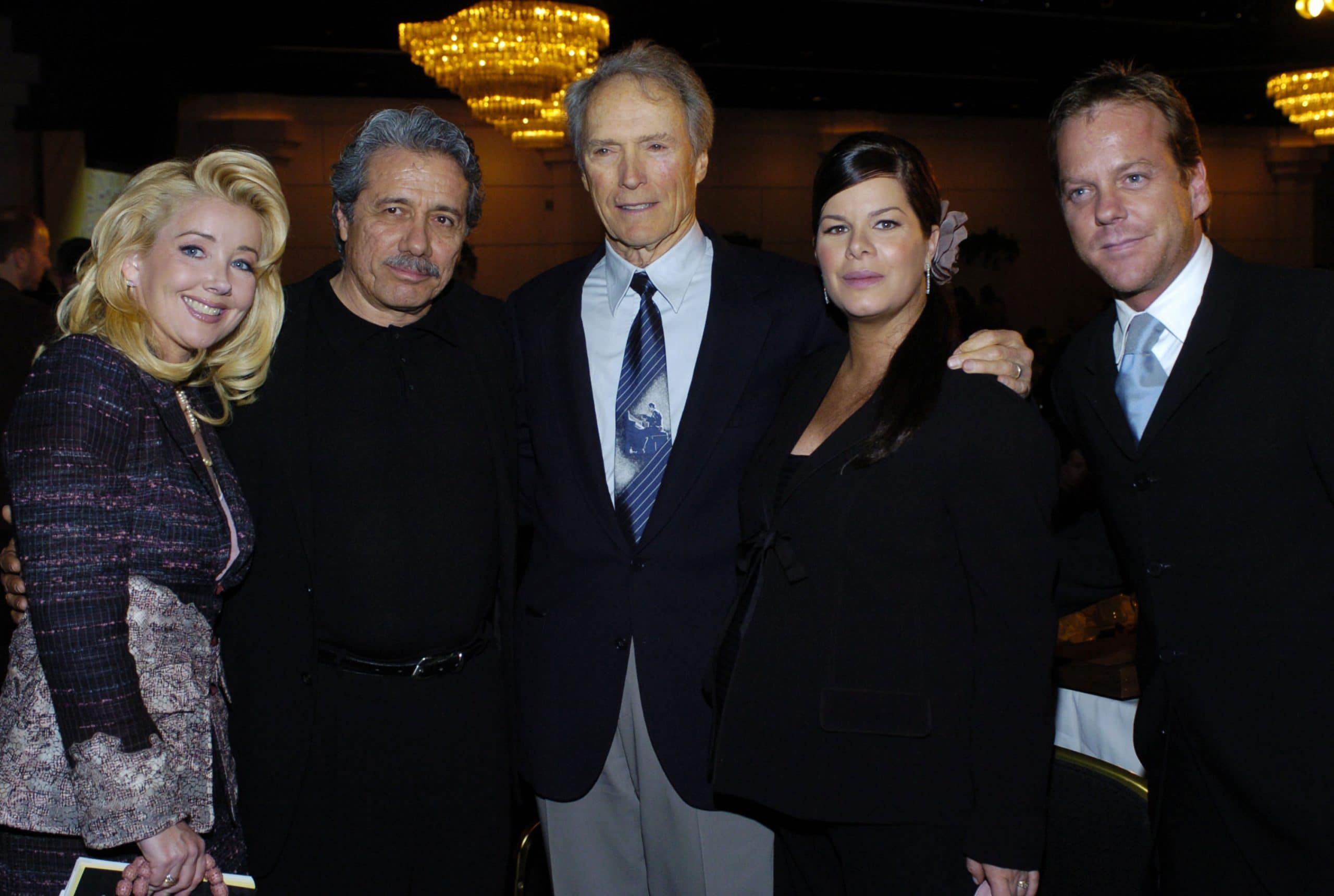Melody Thomas Scott, Edward James Olmos, Clint Eastwood, Marcia Gay Harden, and Kiefer Sutherland