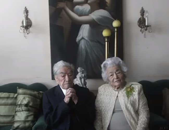 Julio Mora Tapia, 110, and Waldramina Quinteros, 104