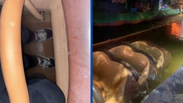 splash mountain boat sinks, guests told to stay inside ride