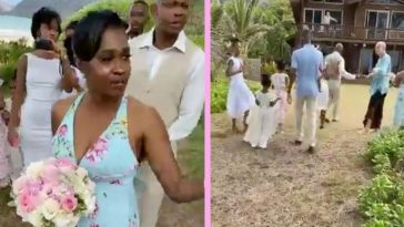 woman crashes hawaii beach wedding (1)