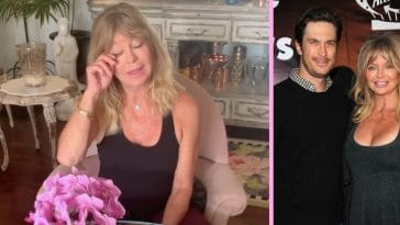 goldie hawn gets emotional singing for oliver hudson's birthday