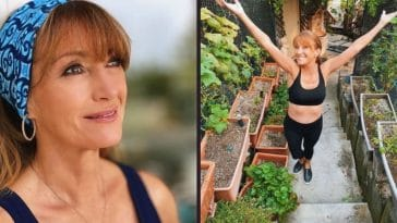 jane seymour shares photo in sports bra