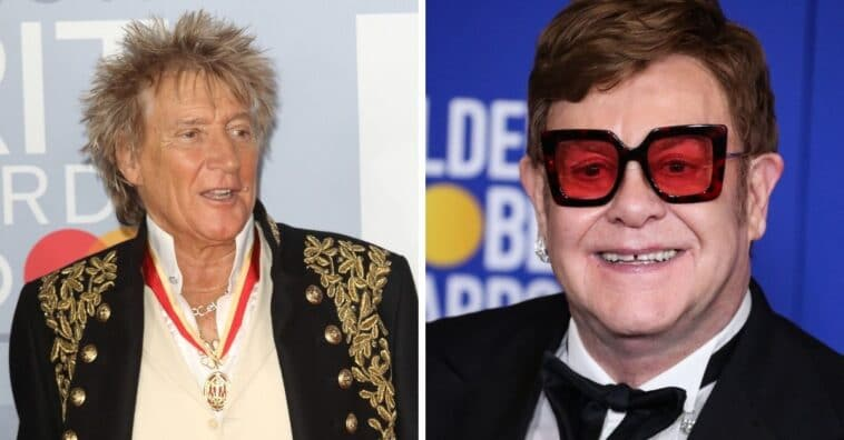Elton John and Rod Stewart are in a feud