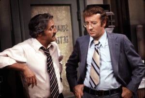 Hal Linden and Steve Landesberg in Barney Miller