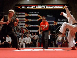 "The Karate Kid ended up with ""You're the Best"""