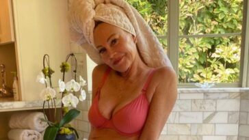 melanie griffith lingerie breast cancer awareness