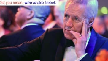 Alex Trebek easter egg on Google