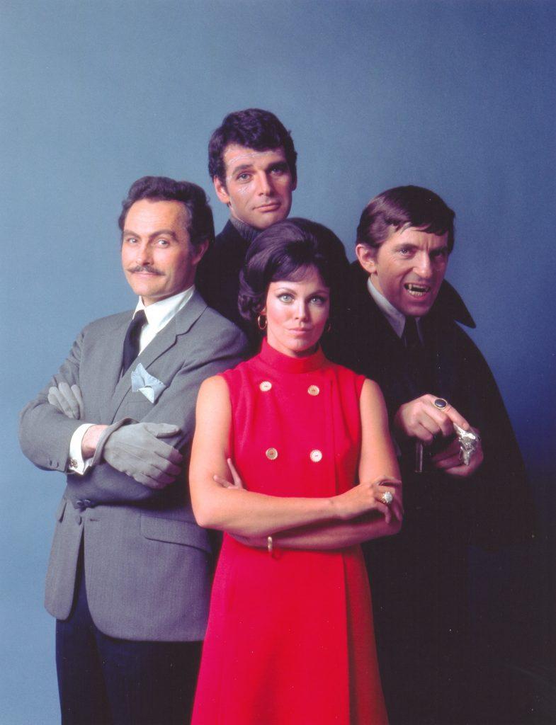 Clockwise from left: Herbert Astredo, Robert Rodan, Jonathan Frid and Lara Parker from 'Dark Shadows'