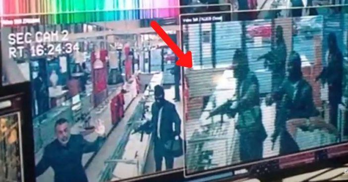A robbery scene got too real