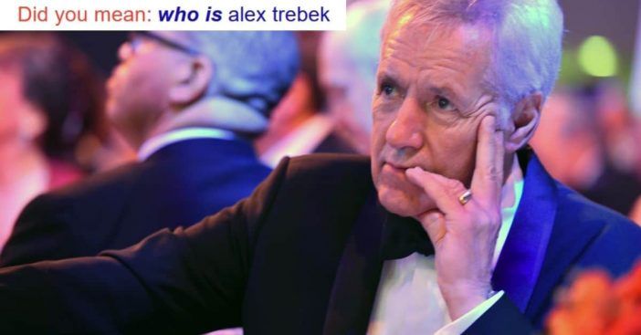 Alex Trebek easter egg on Google