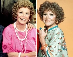 Audra Lindley as Mrs. Roper as part of the cast of Three's Company and The Ropers