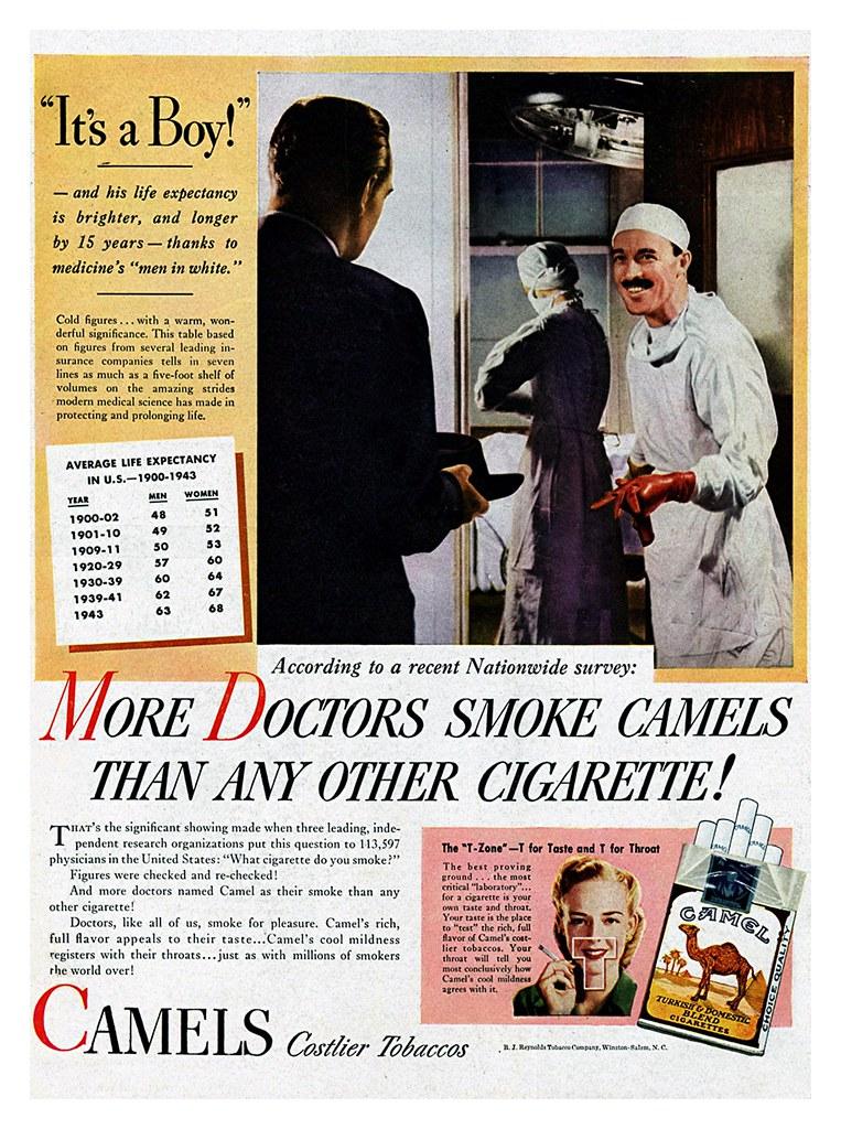 It's A Boy! Camels Cigarettes Ad