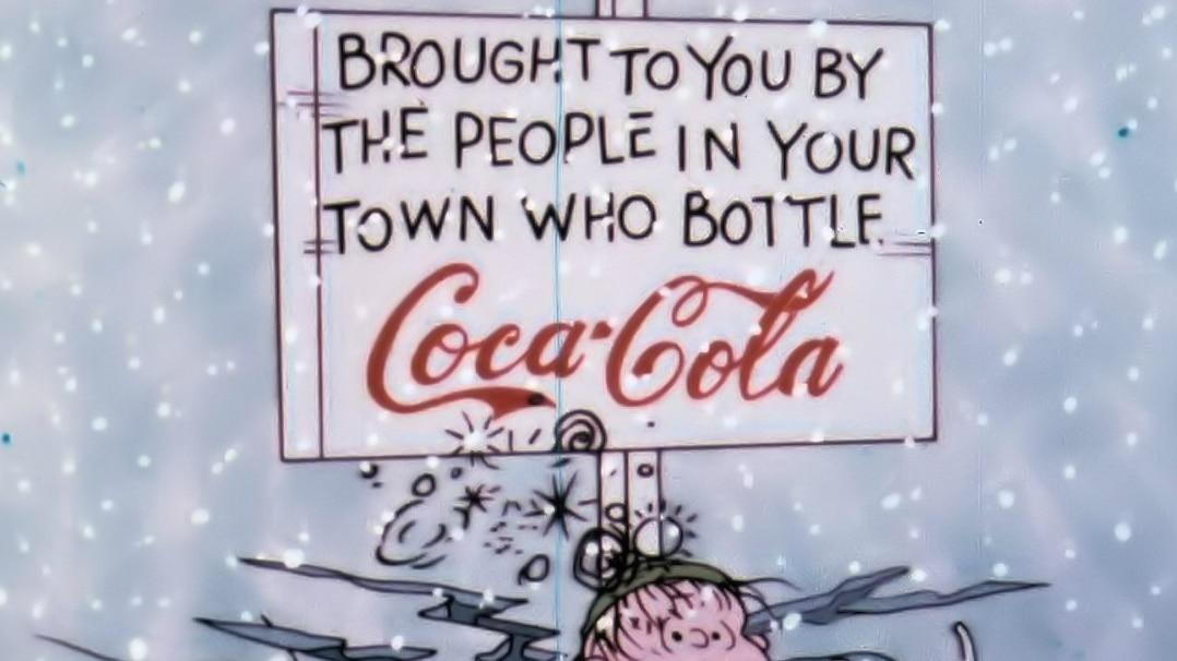 coca cola ad a charlie brown christmas