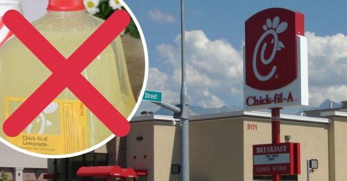 Customers are boycotting Chick fil A lemonade again