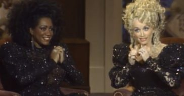Dolly Parton and Patti LaBelle make music with their nails