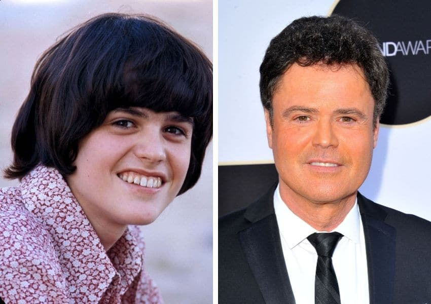 donny osmond then and now