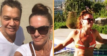 Eddie Van Halen's Wife Janie Liszewski Stuns In Red Bikini Photo