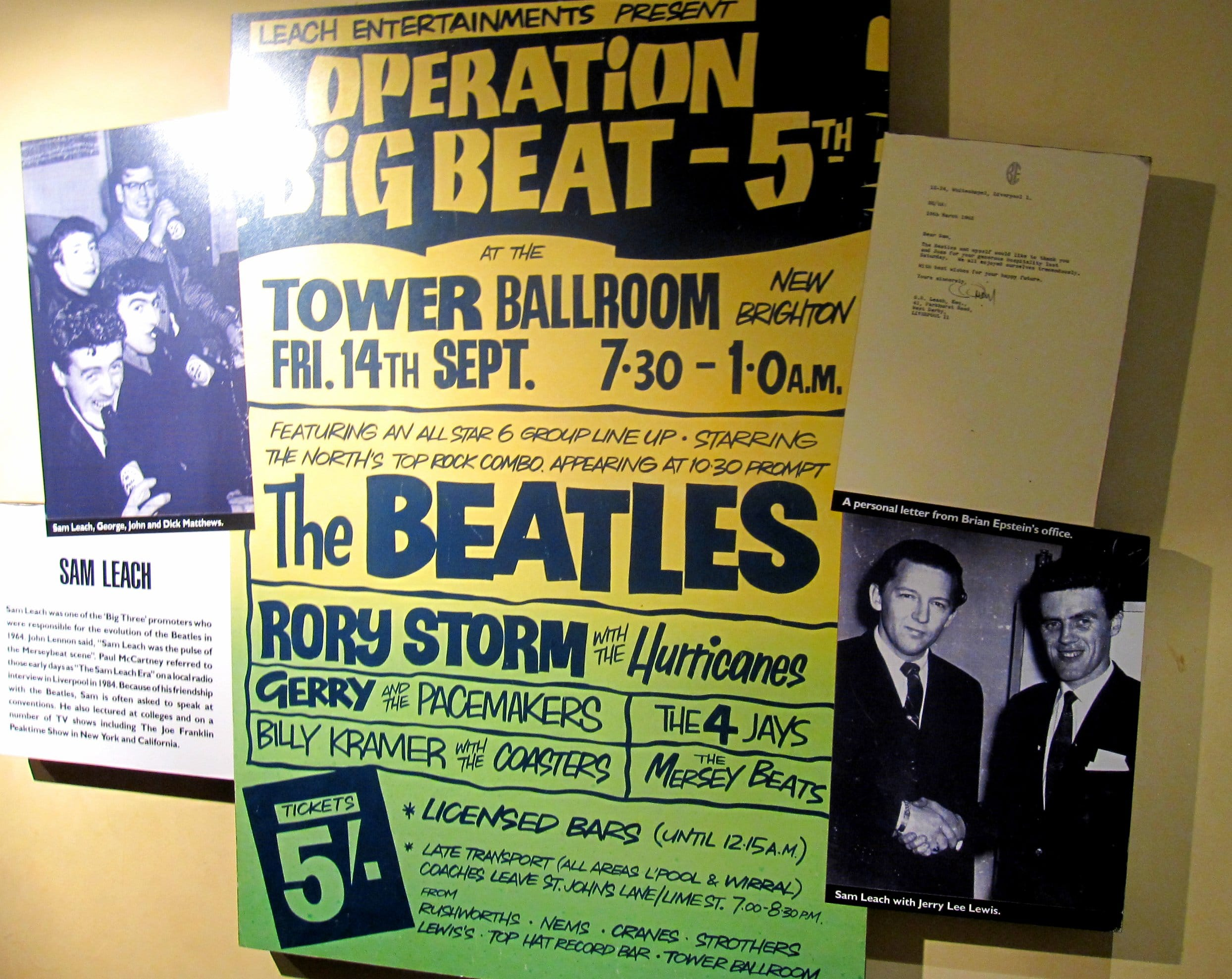 Early Beatles Concert Poster