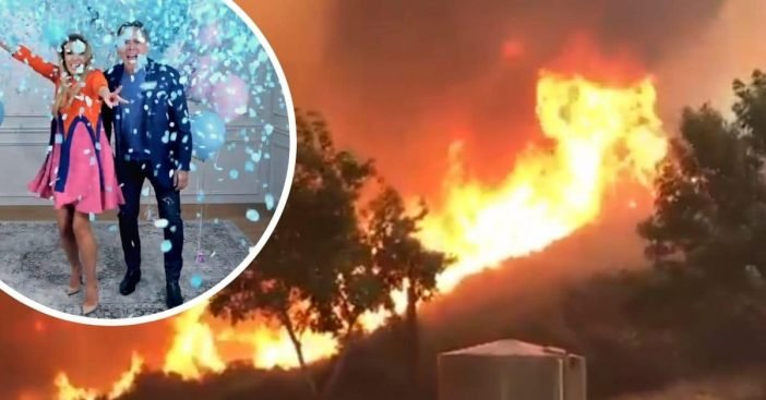 Gender reveal photo causes California wildfires