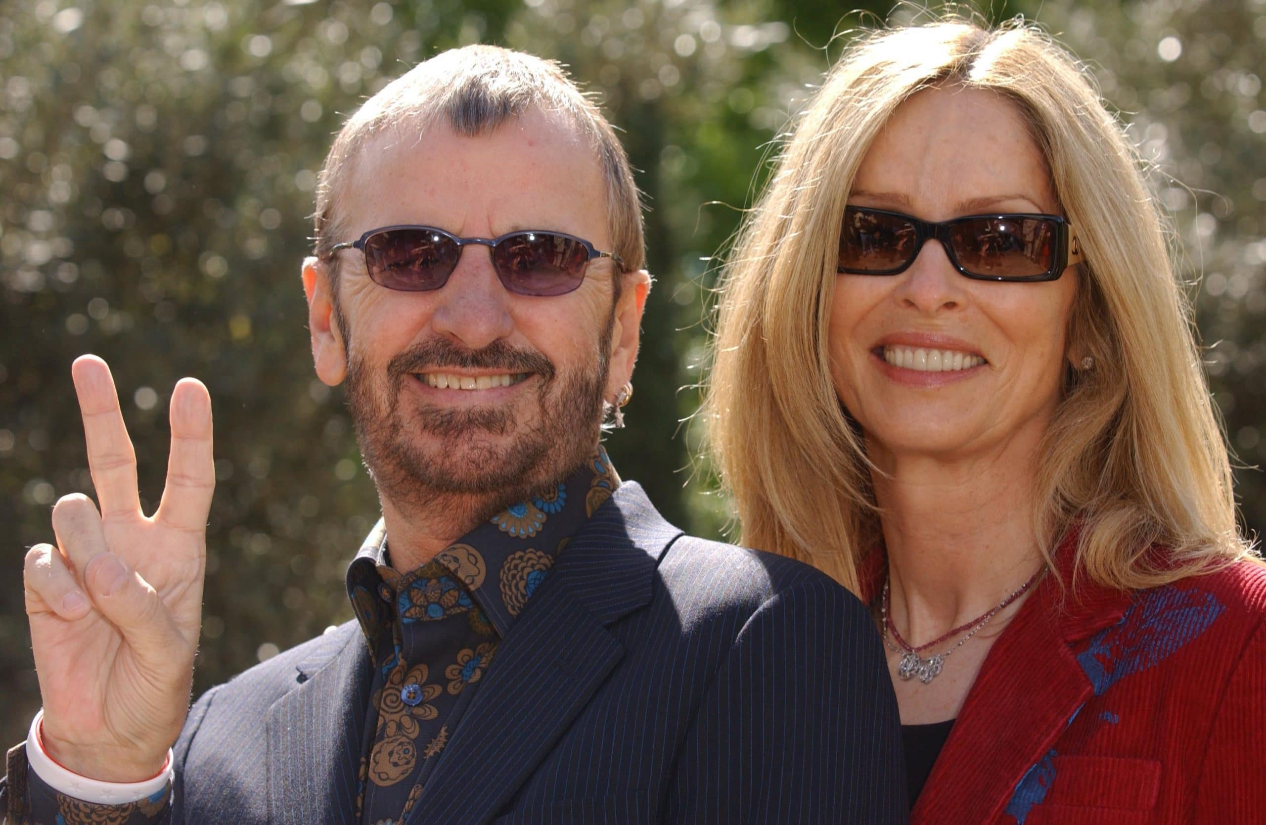 Ringo Starr and Barbara Bach attend the 2005 Chelsea Flower Show in London