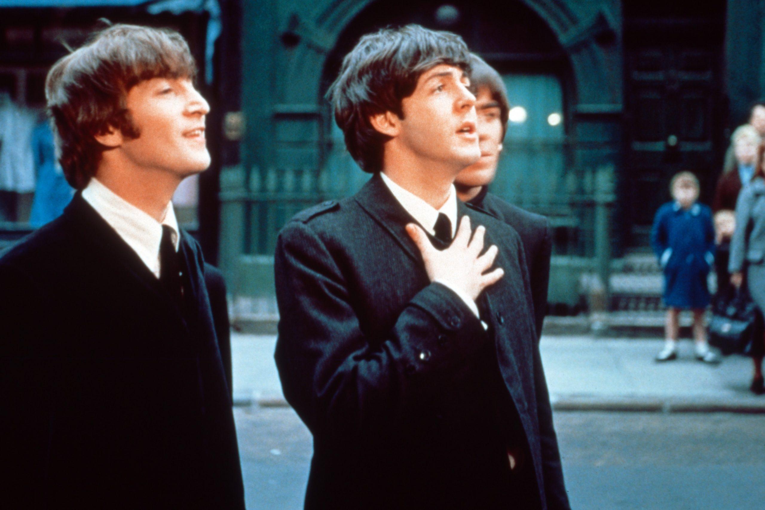 John Lennon and Paul McCartney for A Hard Day's Night