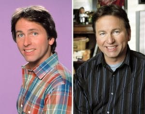 John Ritter in the cast of Three's Company and his final big break Eight Simple Rules