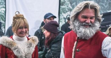 Kurt Russell and Goldie Hawn talk about filming together again