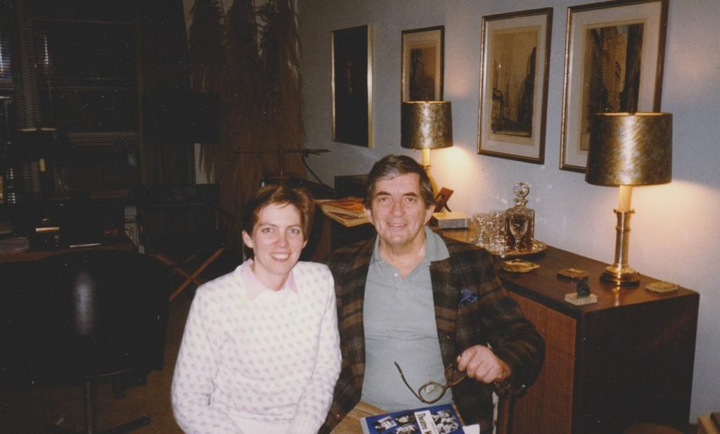 Mary O'Leary and Jonathan Frid in 1985