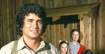Michael Landons hair once turned purple on the set of Little House on the Prairie