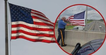 NJ turnpike authority removes american flags from bridges