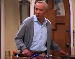 Norman Fell's last appearance as Mr. Roper on Ellen a year before his death