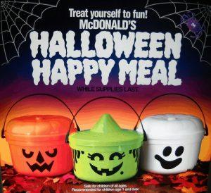 One vintage Halloween commercial might promote McDonald's beloved Halloween Happy Meal bucket