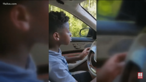 PJ is a natural behind the wheel and navigated a path even adult relatives find hard
