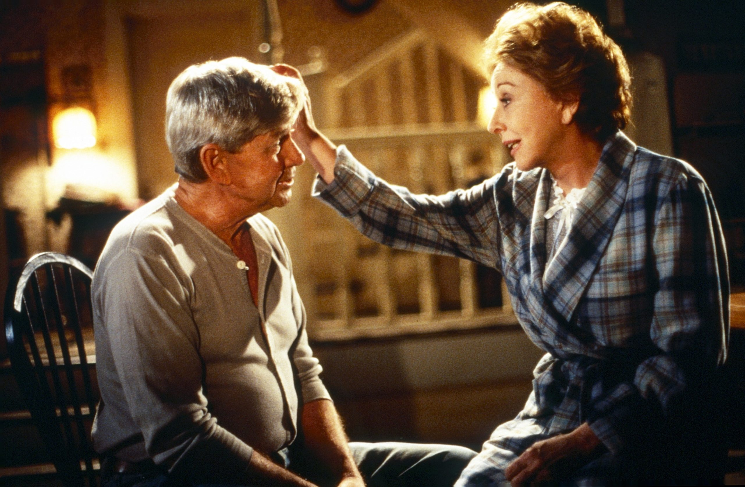 Ralph Waite and Michael Learned in The Waltons