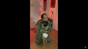 Stop in His Tracks When His Soldier Comes Home for the Holidays