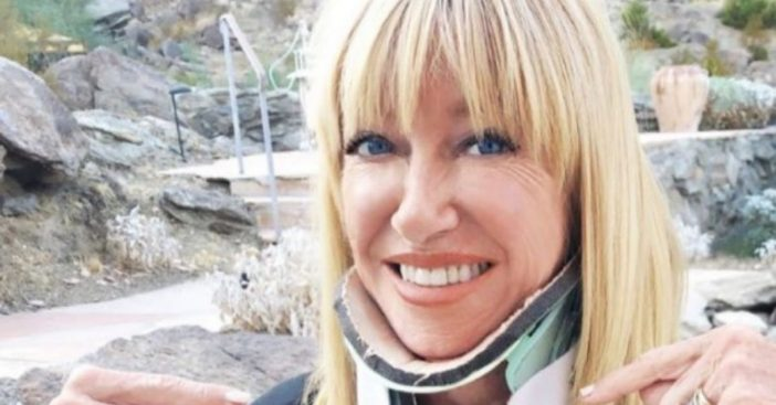 Suzanne Somers uses humor to recover from neck surgery