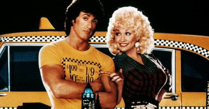 Sylvester Stallone and Dolly Parton in 'Rhinestone' (1984)