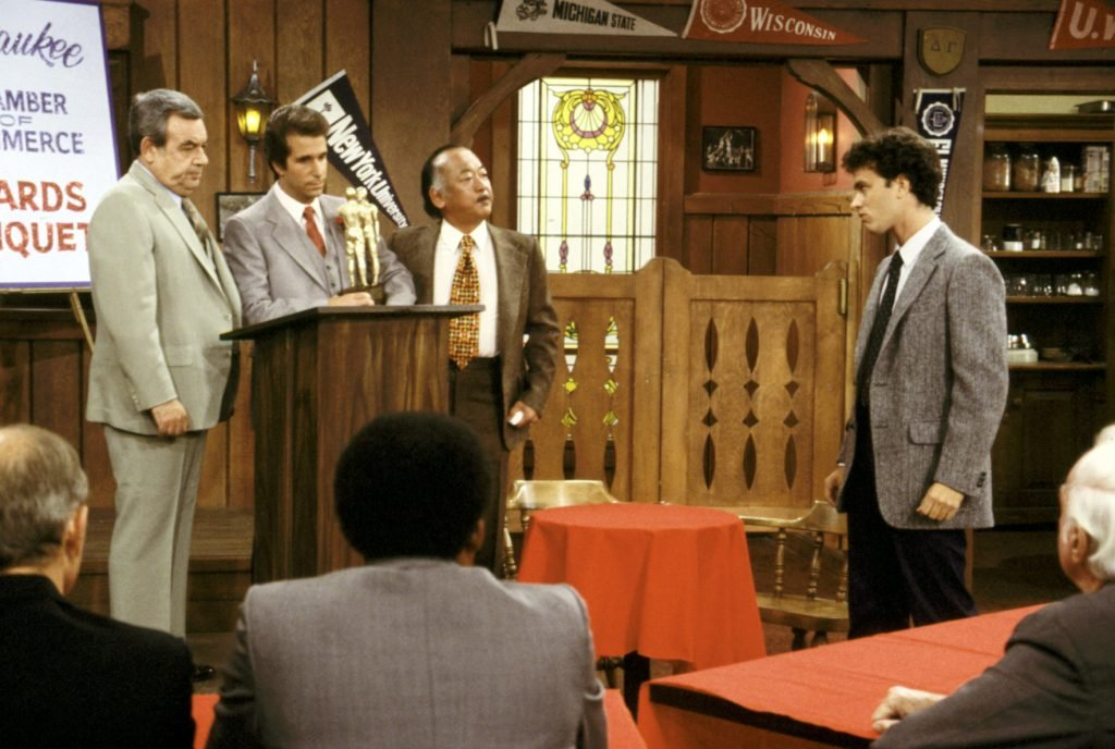 tom-bosley-henry-winkler-pat-morita-tom-hanks-happy-days