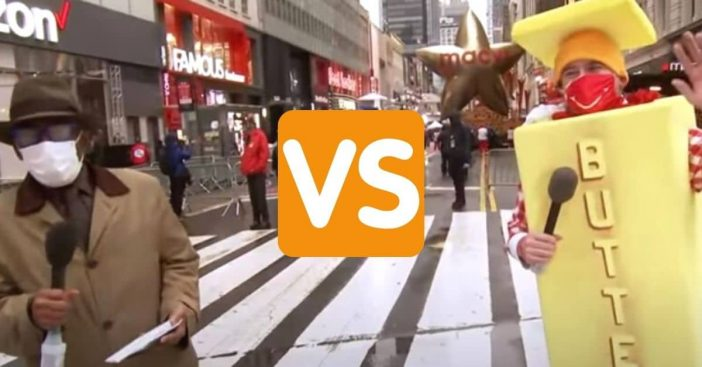 The Butter Man returns to annoy Al Roker during parade