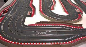 Today, people still create elaborate tracks to race on