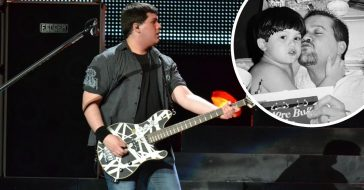 Wolfgang Van Halen shares throwback photos of late father Eddie Van Halen