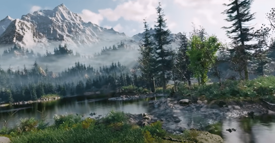 Check Out This Stunning 3D World Someone Made Out Of A Bob Ross Painting