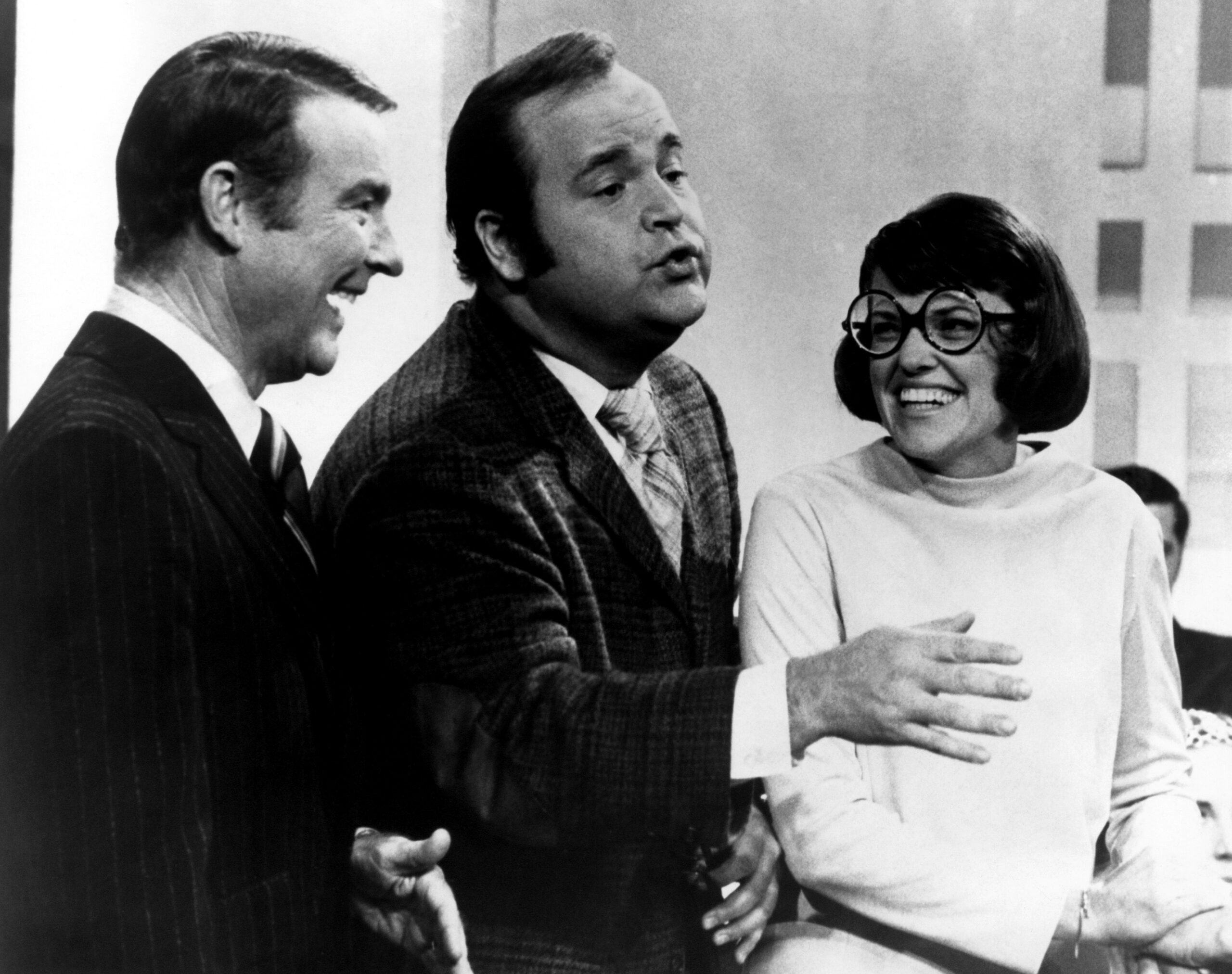 Ralph Edwards, Dom DeLuise with wife Carol DeLuise