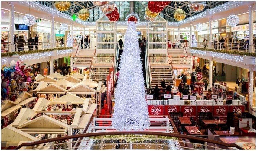 shopping mall christmas
