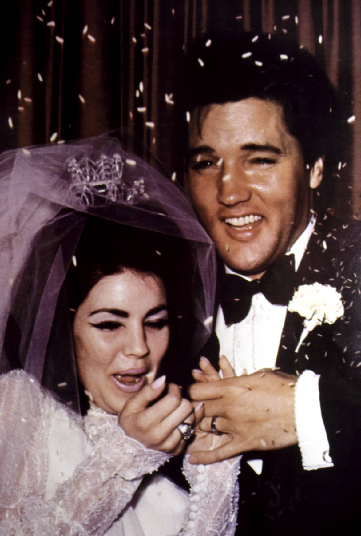 Newlyweds PRISCILLA PRESLEY and ELVIS PRESLEY