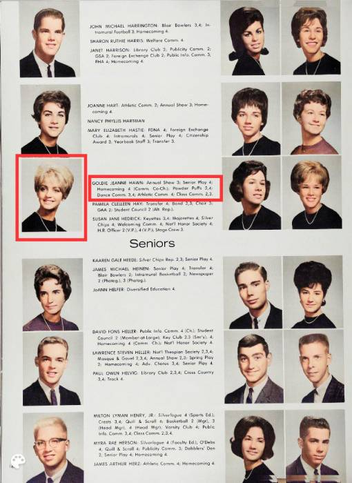 Goldie Hawn Sports Unrecognizable Pixie Cut In Resurfaced School Photos