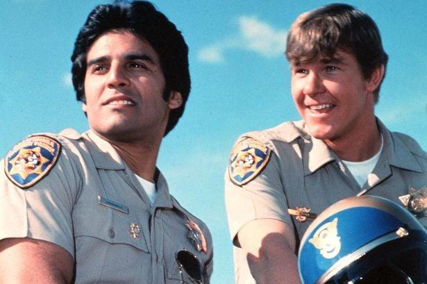 "Frank ""Ponch"" Poncherello (Erik Estrada) and Jon Baker (Larry Wilcox)"