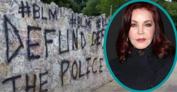 priscilla presley upset about BLM graffiti on graceland