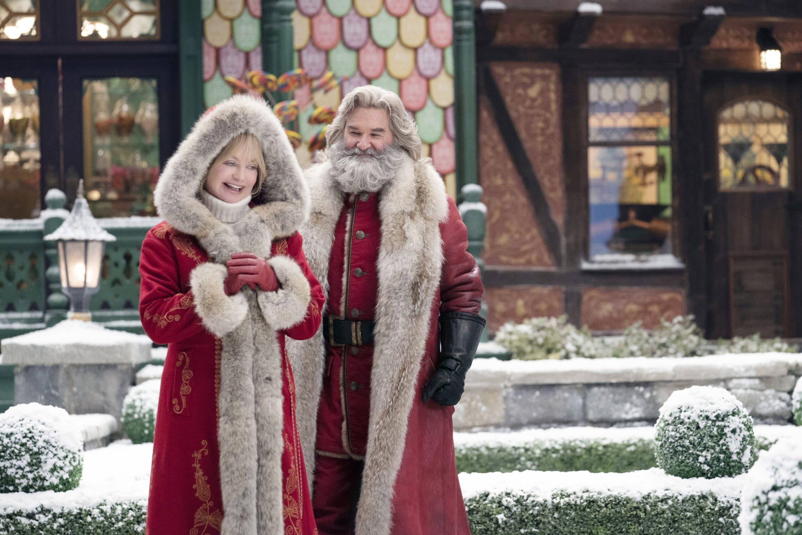 Goldie Hawn as Mrs. Claus, Kurt Russell as Santa Claus